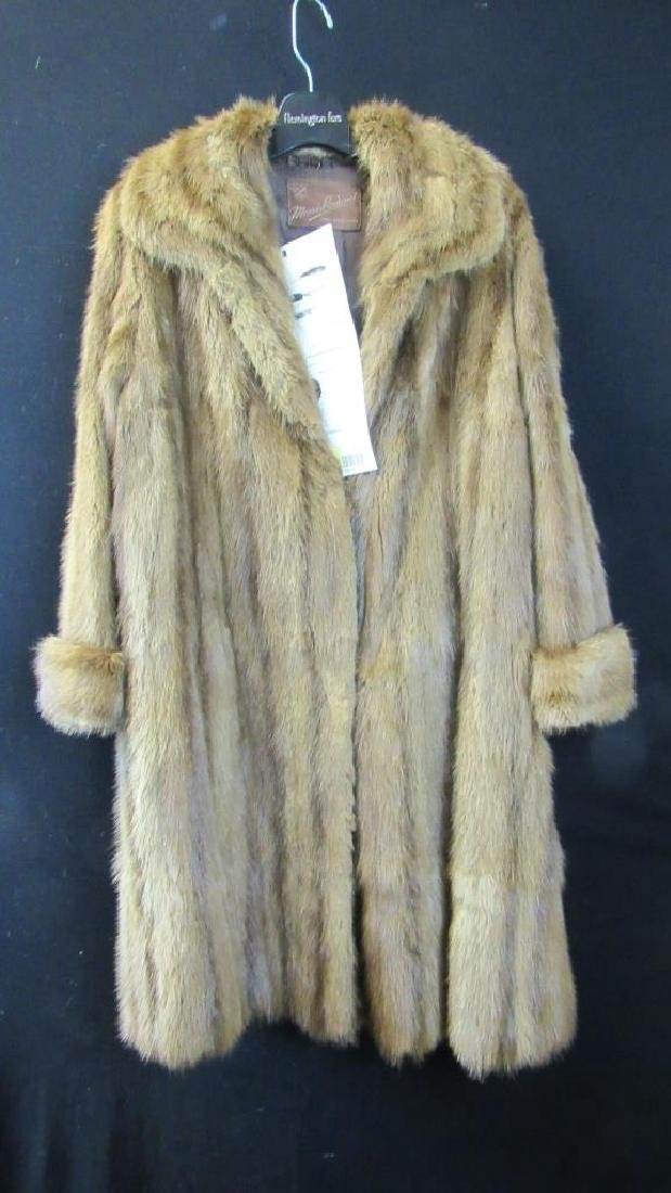 Allen's Vintage Fur Light Brown Coat