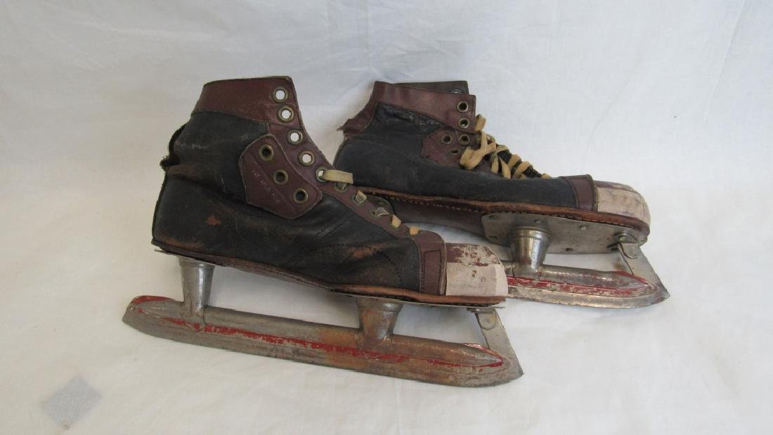 Vintage Leather Ice Skates