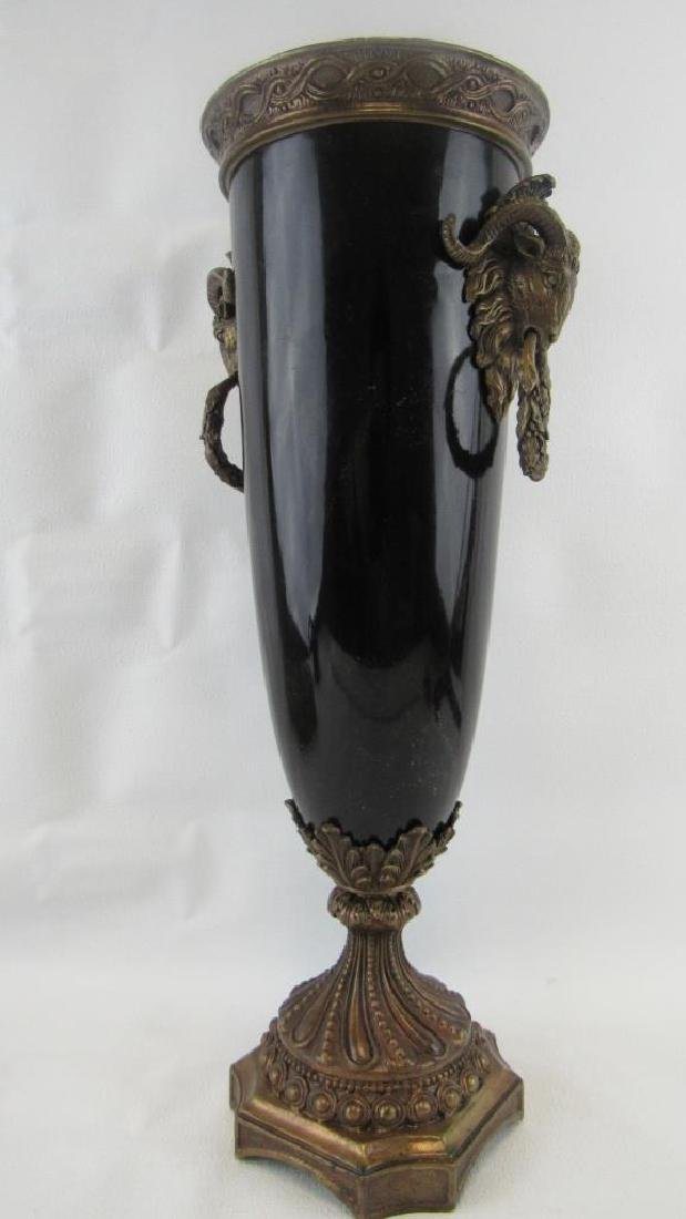 Chinese Export Porcelain and Bronze Vase