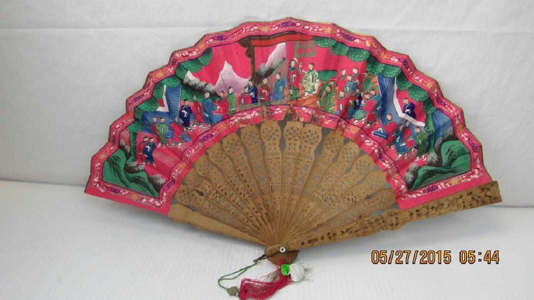 19th Century Incense Wood Fan