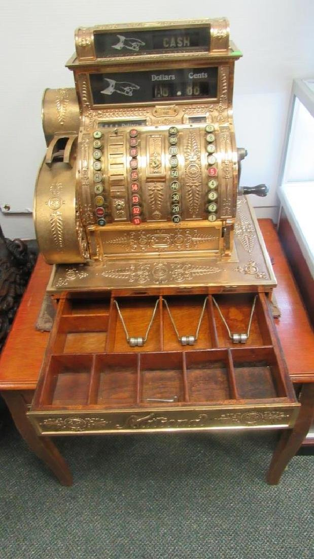 """National"" Brand Gold Plated Cash Register"