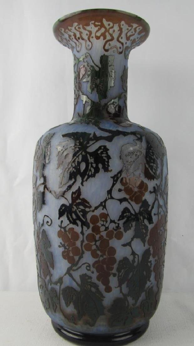 Daum Nancy Cameo Glass Vase - 3