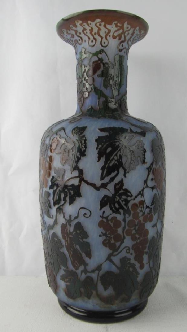 Daum Nancy Cameo Glass Vase - 5