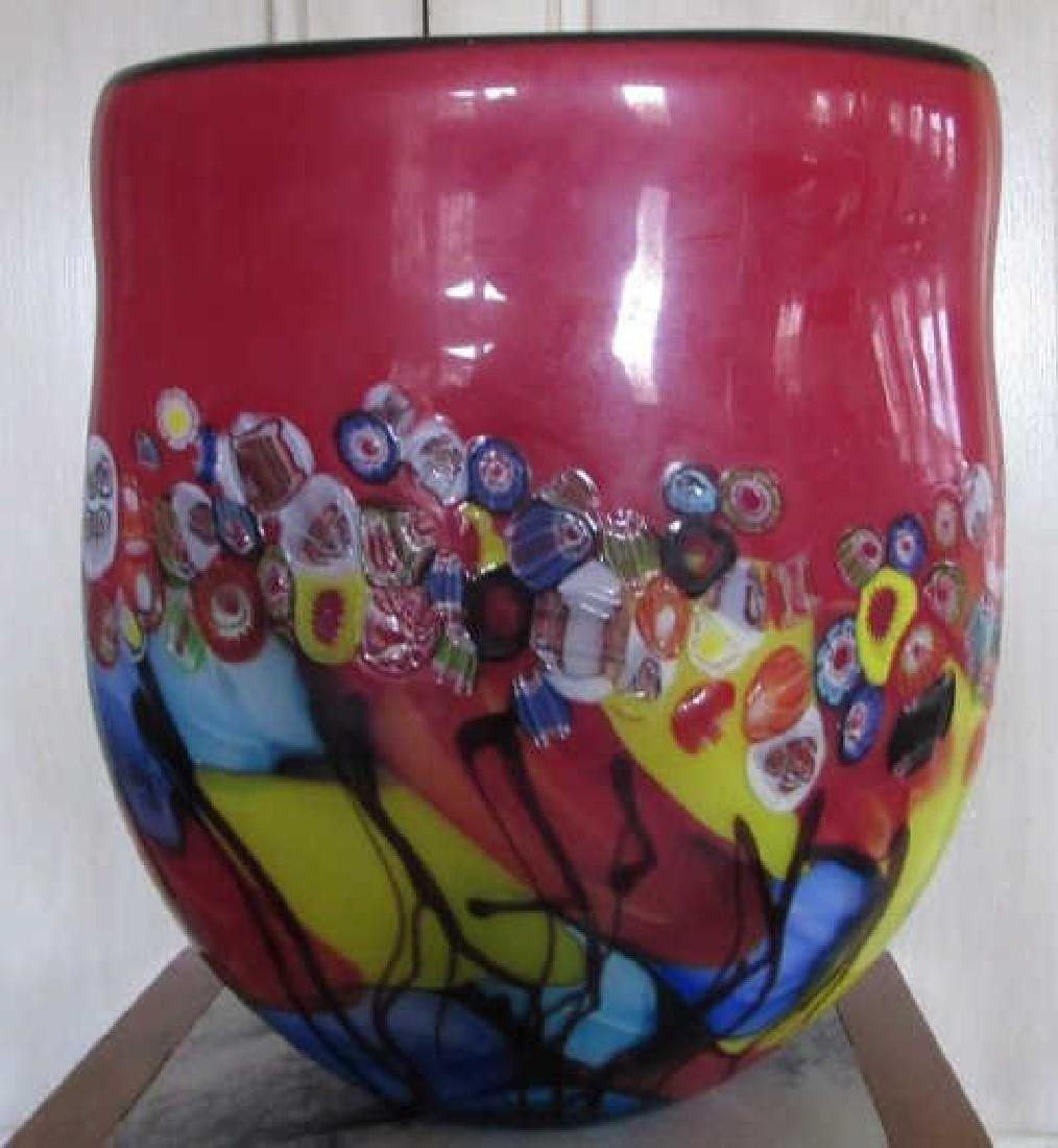 Colorful Morano Glass Vase