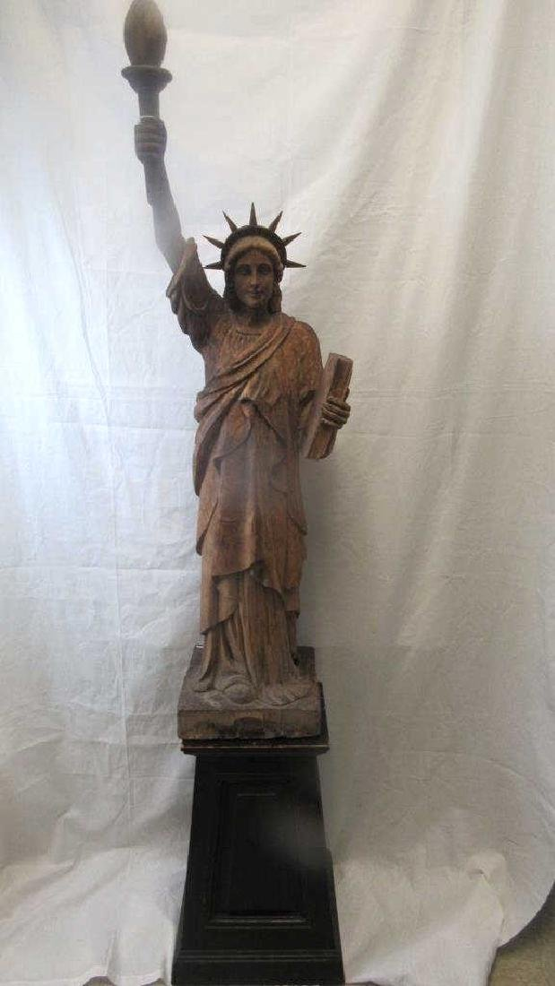 Carved Wood Statue of Liberty