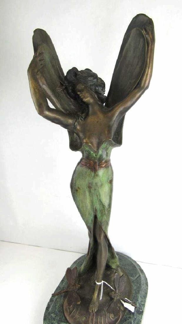 French Bronze Statuette of Winged Lady