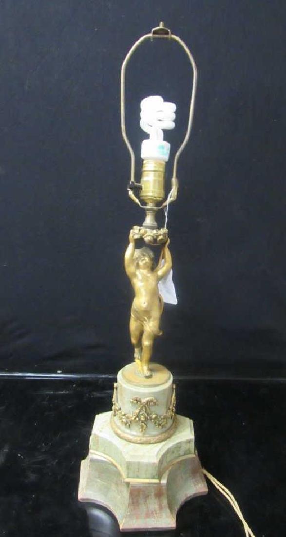 Vintage Gilt Bronze Table Lamp