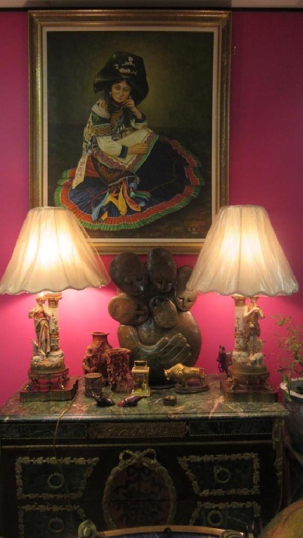 Pair Beautiful Shepherd and sheep table Lamp