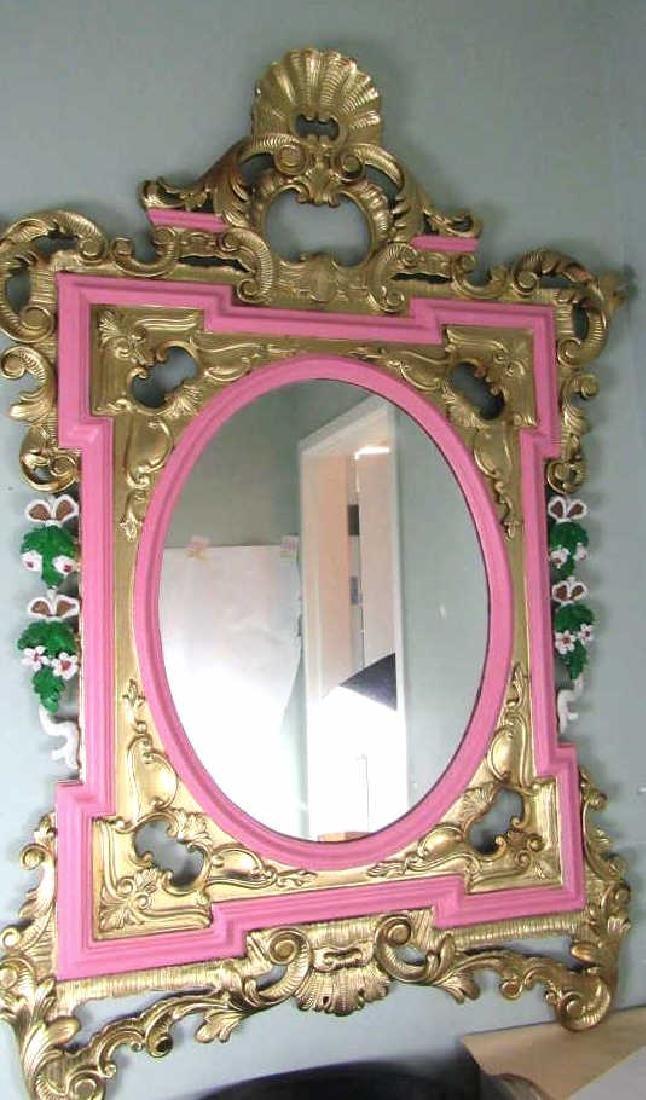 Beautiful Mirror Bronze on Wood