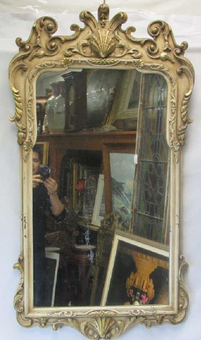 Gold Painted Wood Hanging Mirror