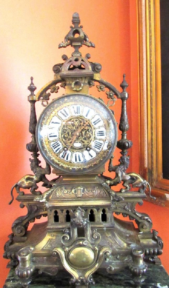 Early Bronze Mantle Clock by Tiffany & Co