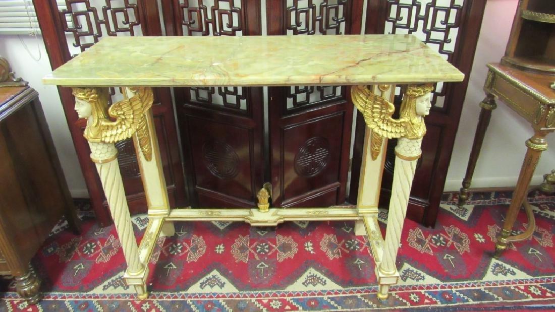 Italian Green Marble Top Table