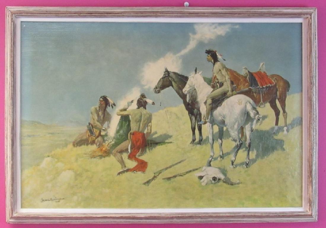 The Smoke Signal by Frederic Remington 1905