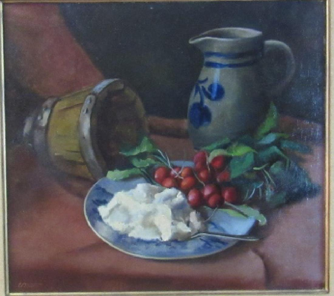 E. Adams Oil Painting