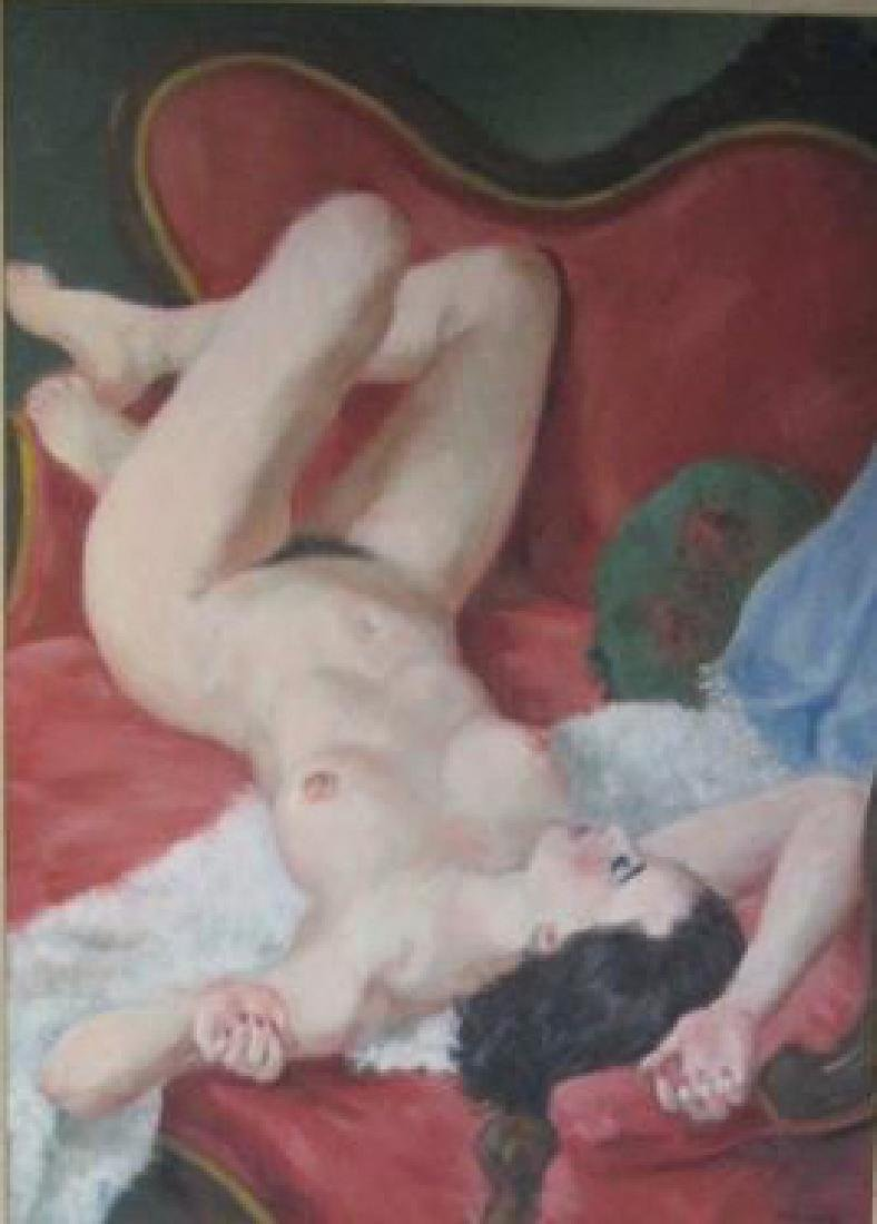 European Nude Oil on Canvas Painting