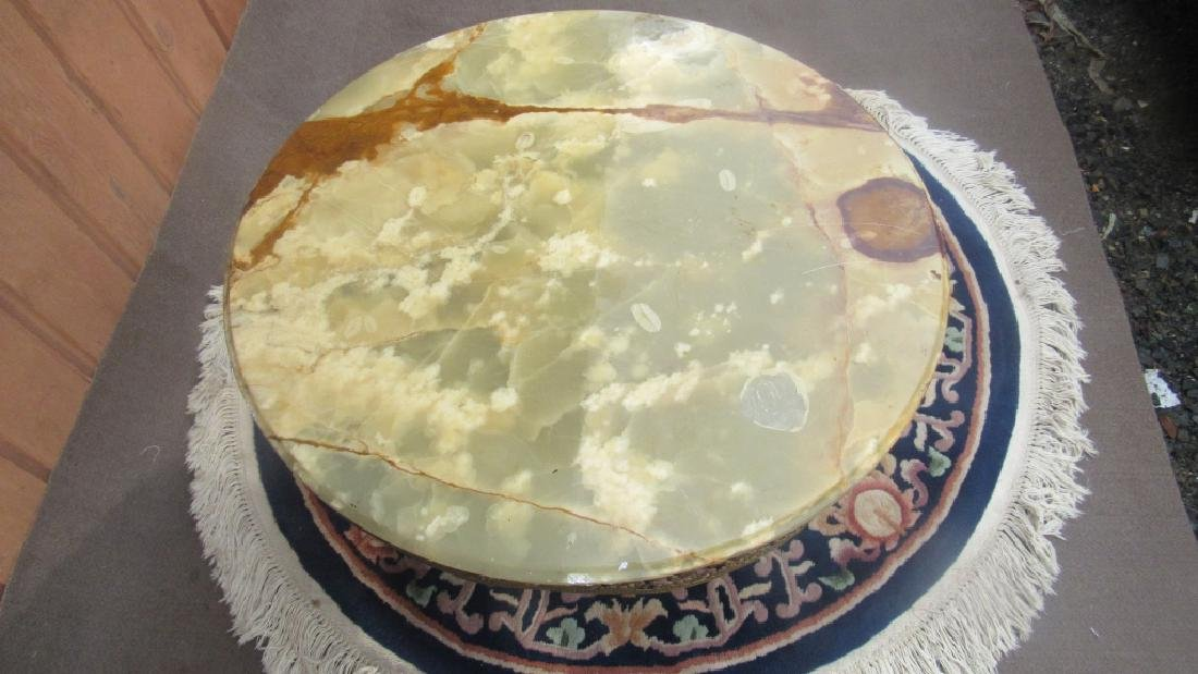 Green Marble Top Short Table