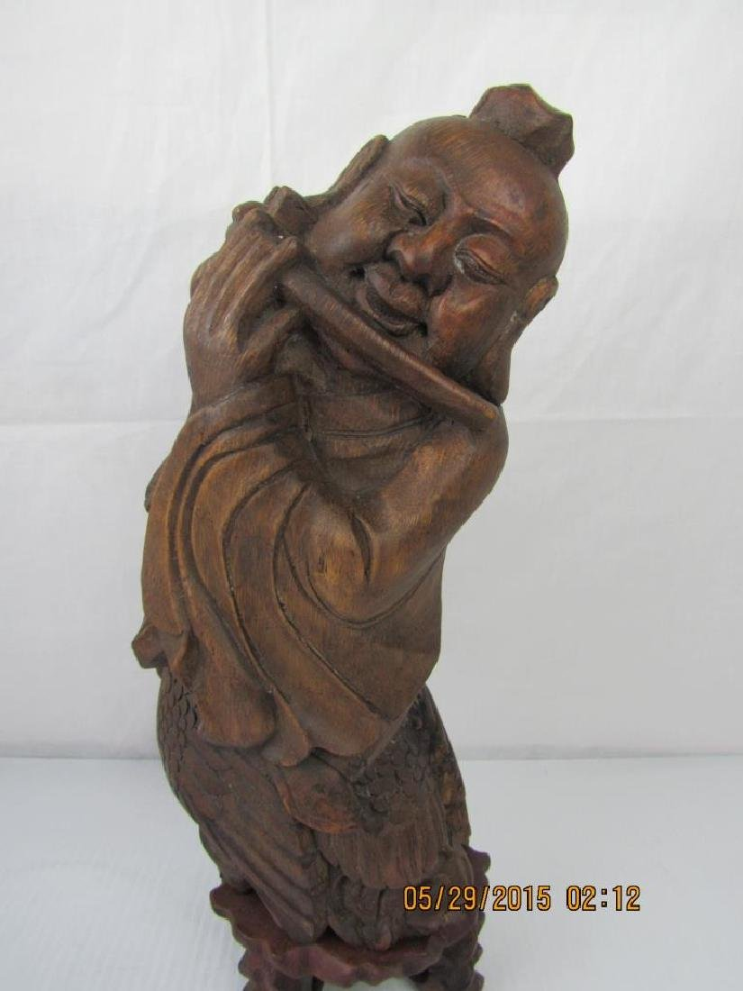 Chinese Bamboo Carving of a Young Boy