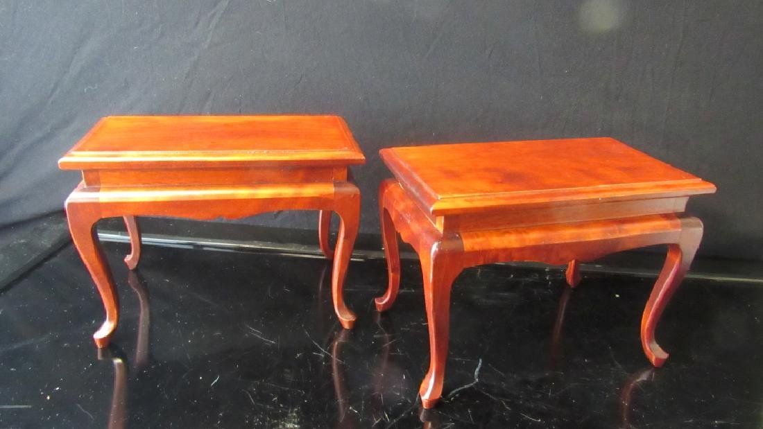 Pair Antique Huanghuali Wooden Stand