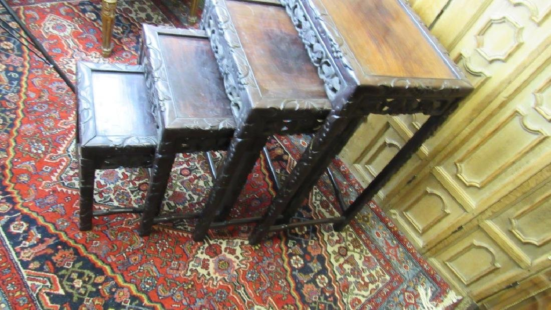 Set of  Four Chinese Qing Dynasty Nesting Tables
