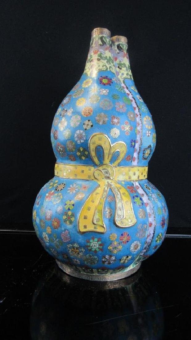 Qing Dynasty Cloisonne 3 Chamber Vessel