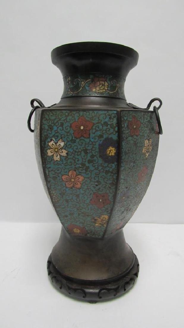 Chinese Floral Cloisonne Vase
