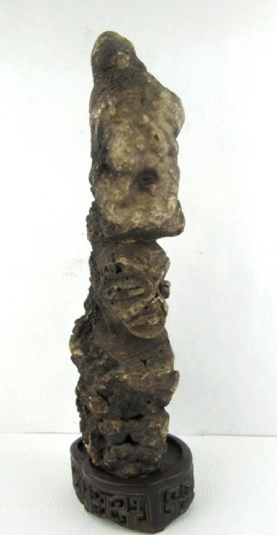 AN AFRICAN MAGMA STONE CARVING