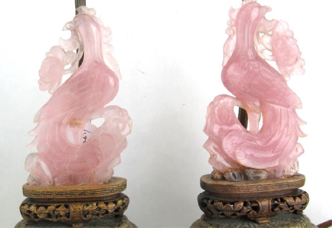 Pink Jade Carved Statue