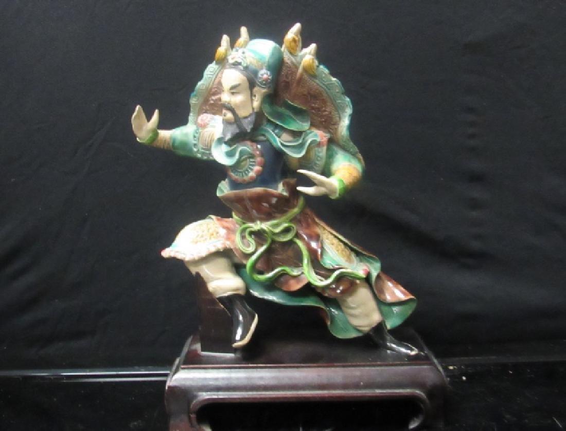 AQing Dynasty Glazed Porcelain Figurine