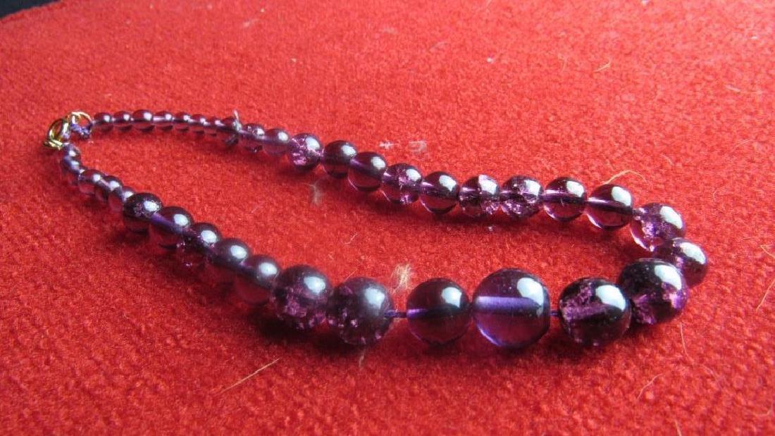 Purple Amethyst Stone Necklace
