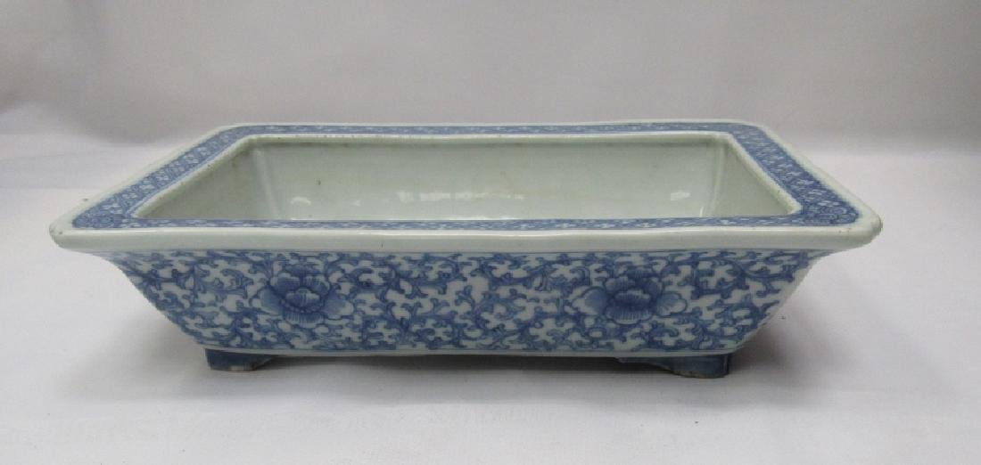Blue and White Porcelain Plant Tray