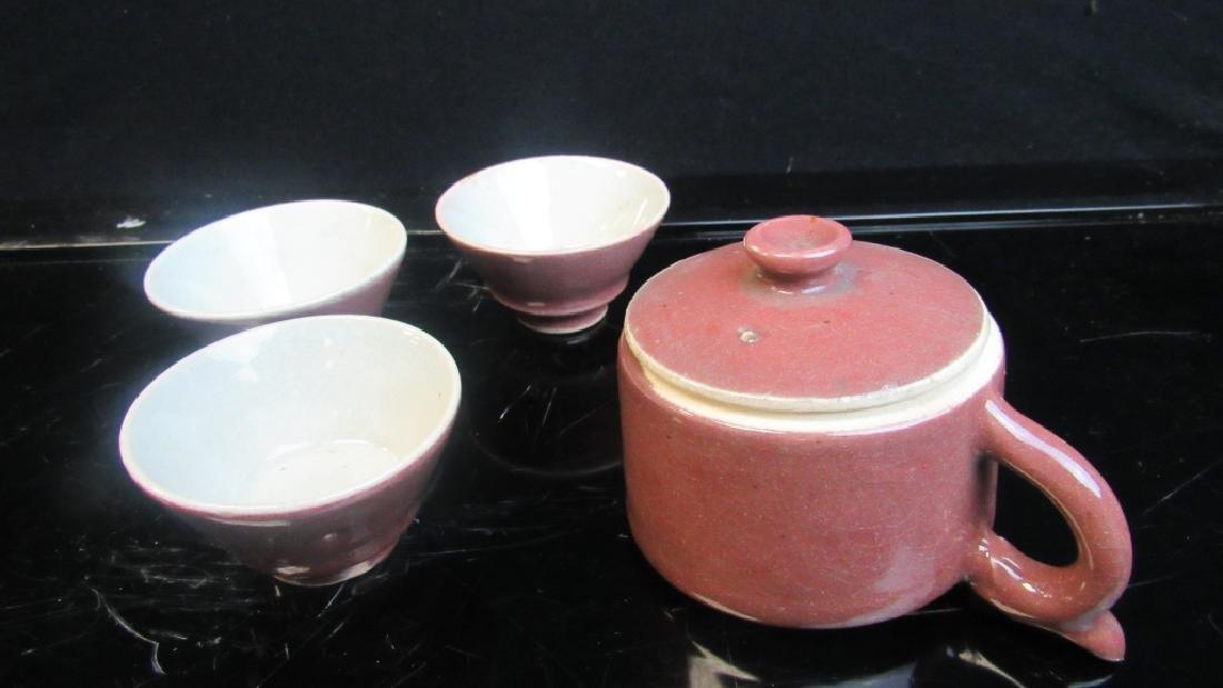 Glazed Porcelain Tea Set