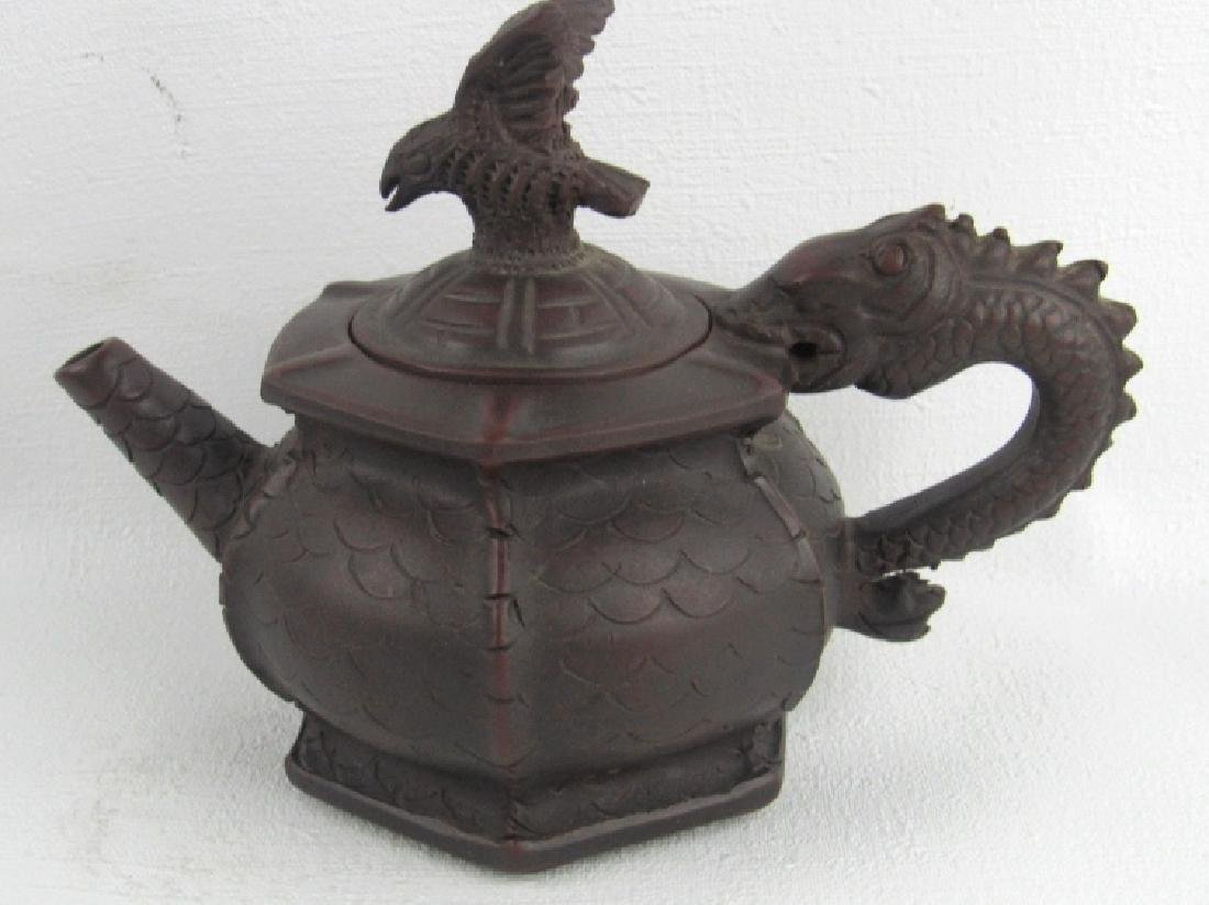 Chinese Dragon Zisha Teapot