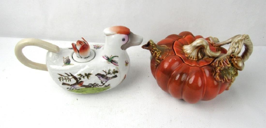 Pair of ceramic teapots