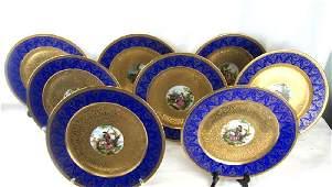 19th Century Czech Enameled Porcelain Plates