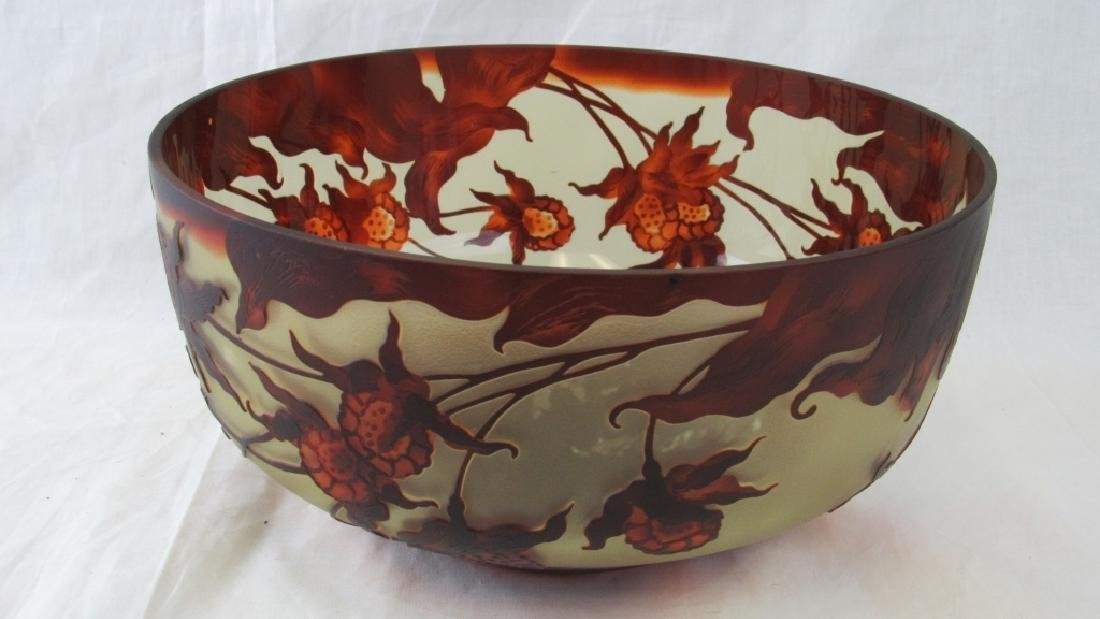 Galle Style French Cameo Glass Bowl