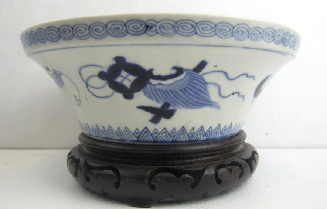 Ming Dynasty Style Blue and White Large Bowl