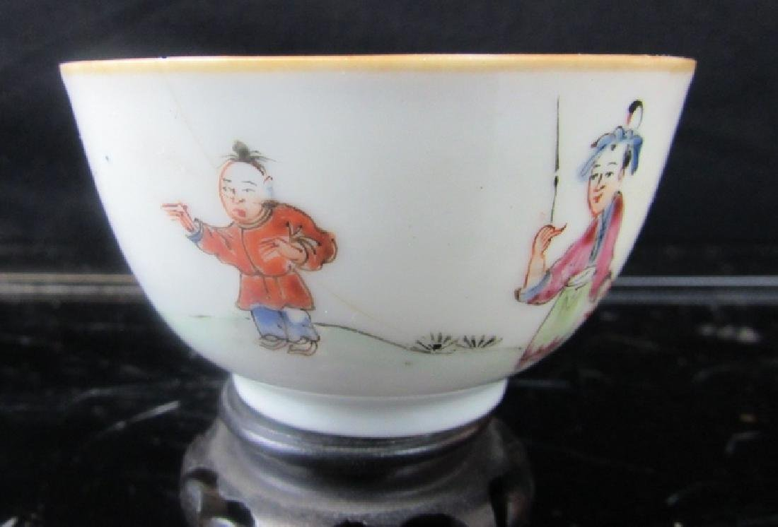 19th Century Qing Dynasty Enameled Teacup