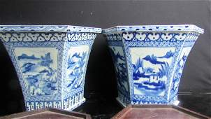 Qing Dynasty Style Blue & White Flower Baskets