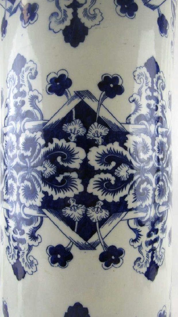 18th-19Th Century Blue and White Umbrella Holder - 5
