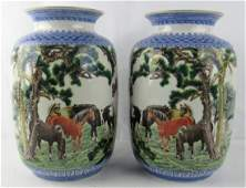 Pair 18th Century of Qing Dynasty Chinese Porcela