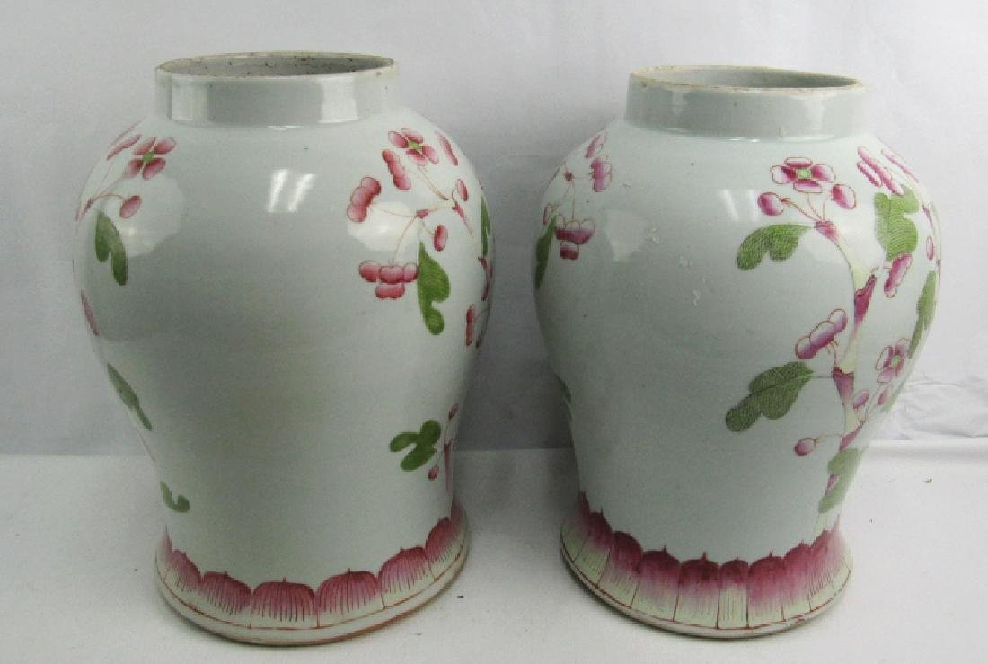 Pair of 17-18Th Century Chinese Vases Qing Dynasty