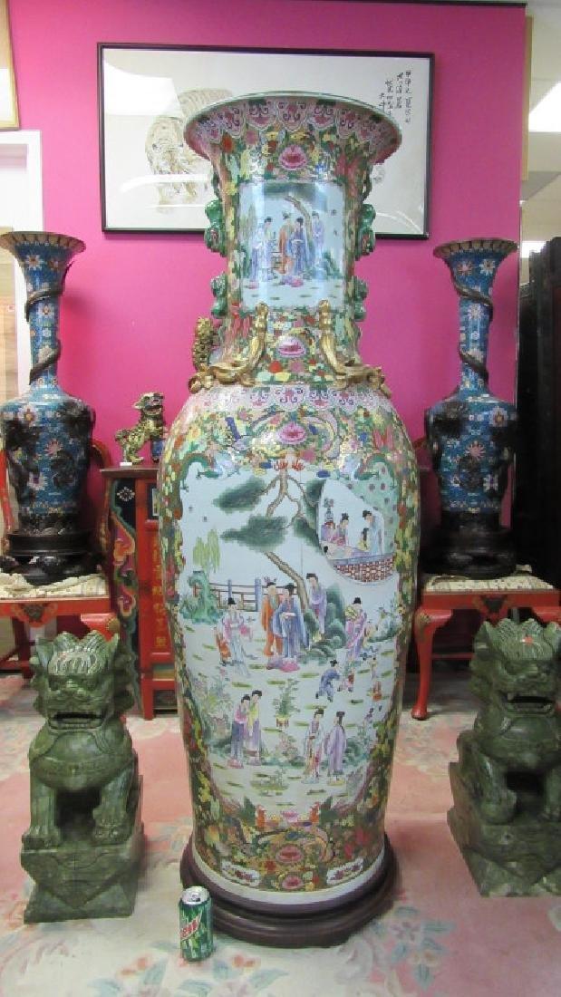Chinese Qing Dynasty Large Vase