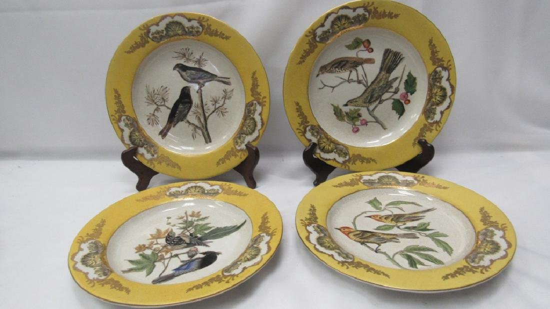 Lot of 4 Matching Porcelain Plates