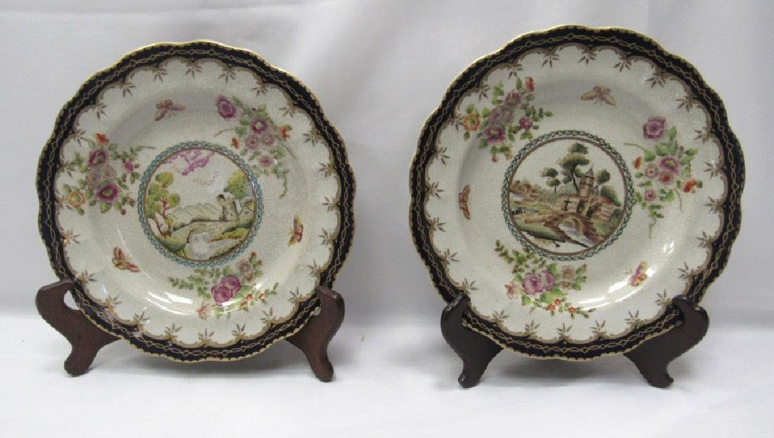 Pair of Decorated Porcelain Plates