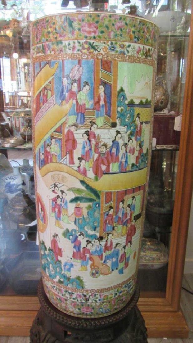 Beautiful Qing Dynasty Enameled Porcelain Vase