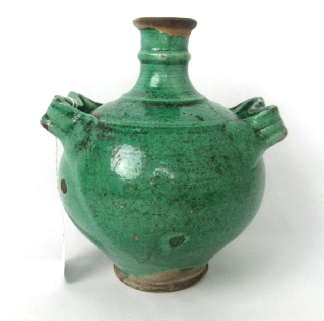 11th Century Glazed Stoneware Jug with Handles