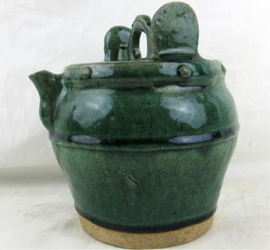 16-17th Century Glazed Pottery Teapot