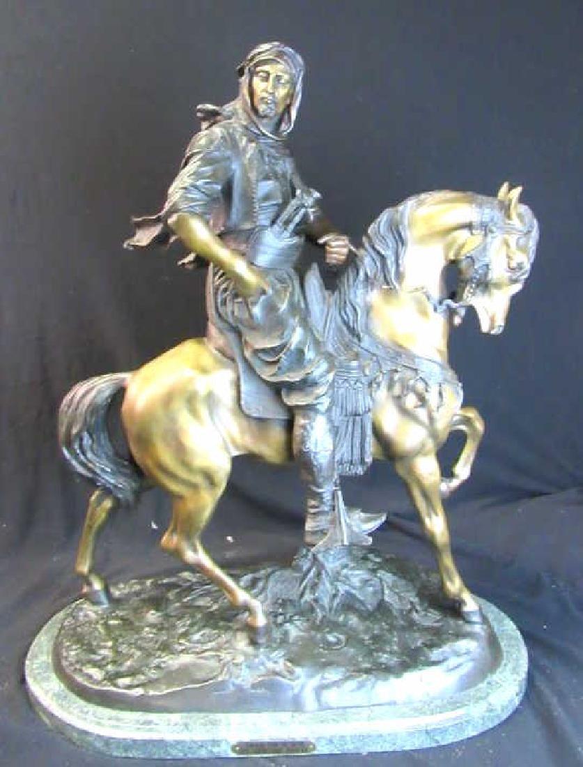 Small Bronze Equestrian Statue