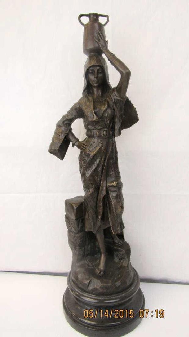 French Bronze Sculpture Gaston Leroux style.