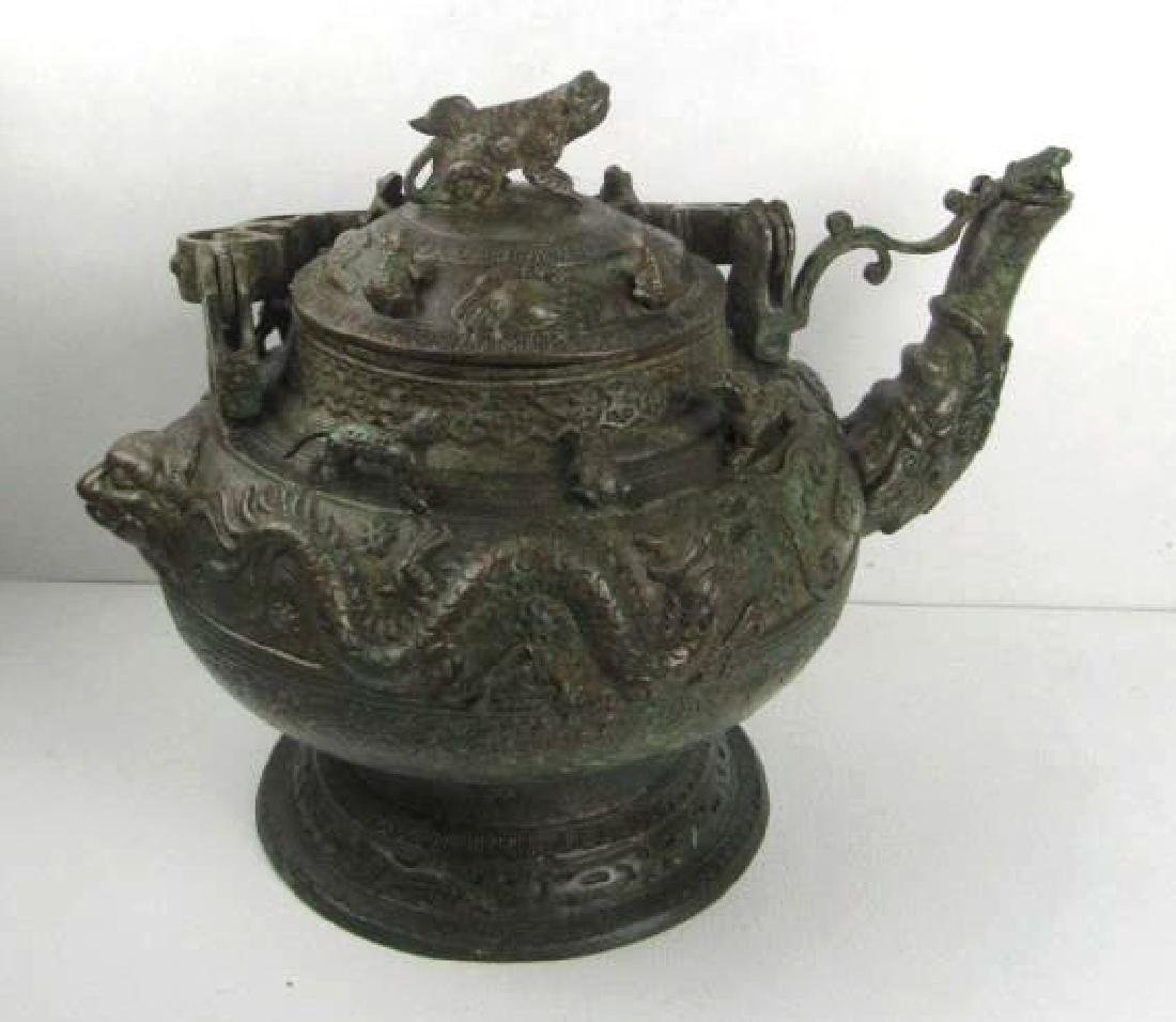 Ming Dynasty Chinese Bronze Teapot